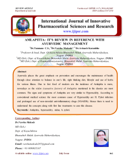 International Journal of Innovative Pharmaceutical Sciences and