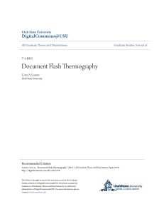 Document Flash Thermography - DigitalCommons@USU