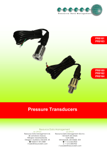 Pressure Transducers - Resource Data Management
