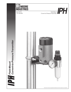 Field-Mount Current-to-Pressure Transmitter