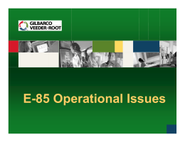 E-85 Operational Issues