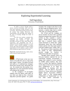 Exploring Experiential Learning