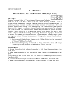 Environmental pollution Control Methods
