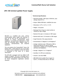 UPS 100 Uninterruptible Power Supply 2016