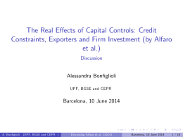 The Real Effects of Capital Controls: Credit Constraints, Exporters