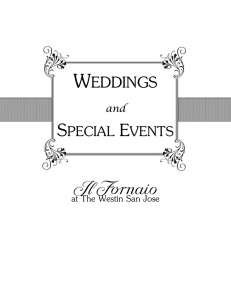 weddings - Il Fornaio