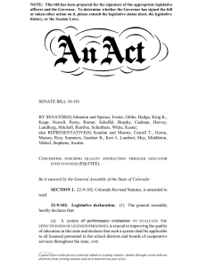 SENATE BILL 10-191 BY SENATOR(S) Johnston and Spence