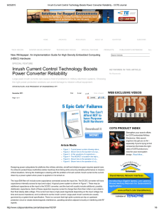 Inrush Current Control Technology B...rter Reliability