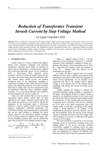 Reduction of Transformer Transient Inrush Current by Step Voltage