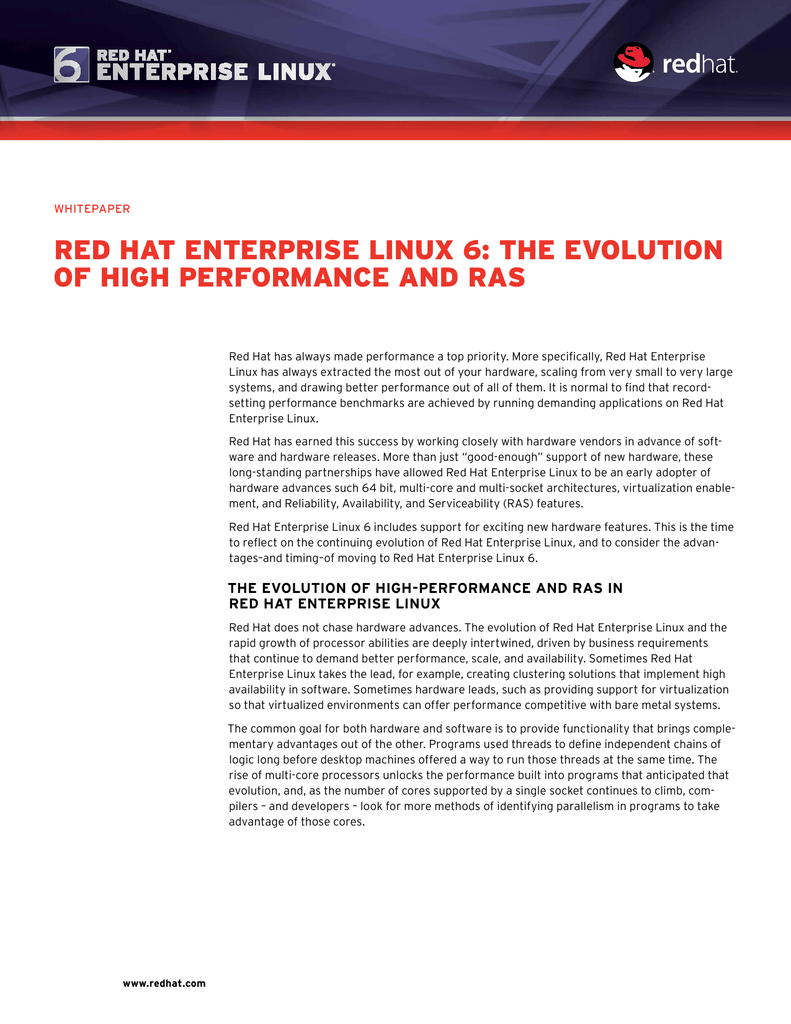 tHe evoLution of HigH peRfoRmance and Ras