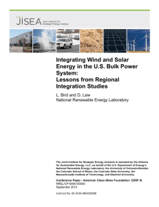 Integrating Wind and Solar Energy in the US Bulk Power