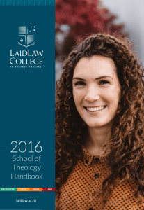 School of Theology Handbook