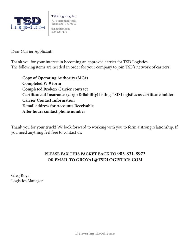 Broker Carrier Contract