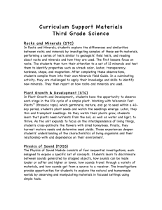Curriculum Support Materials Third Grade Science