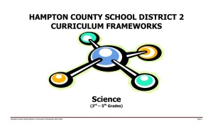 HAMPTON COUNTY SCHOOL DISTRICT 2 CURRICULUM