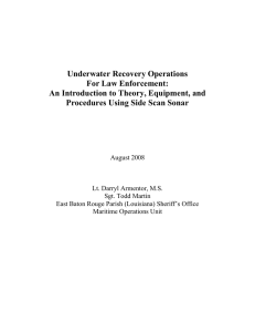 Underwater Recovery Operations for Law Enforcement