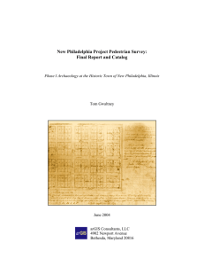 New Philadelphia Project Pedestrian Survey