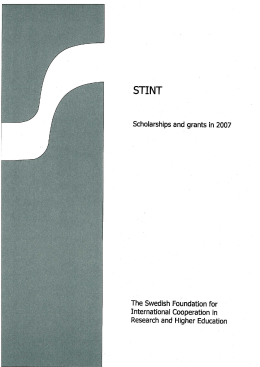 STINT scholarships and grants awarded in 2007