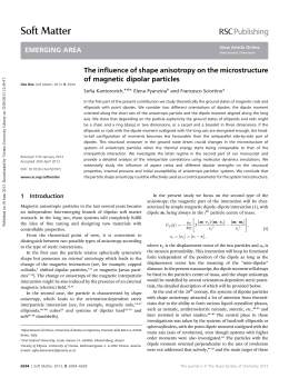 The influence of shape anisotropy on the