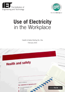 Use of Electricity in the Workplace