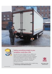 HSE workplace transport campaign
