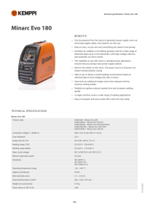 Technical specifications / Minarc Evo 180