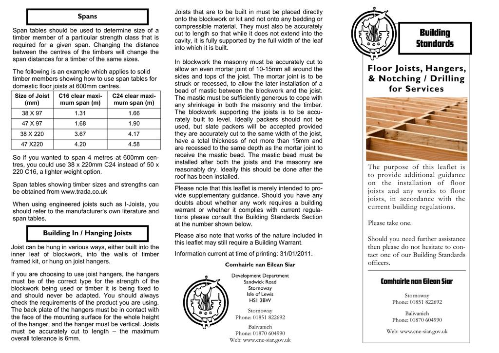 Floor Joists - Comhairle nan Eilean Siar