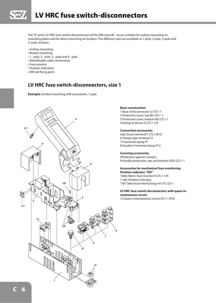 Lv Hrc Fuse Switch Disconnectors Size 1