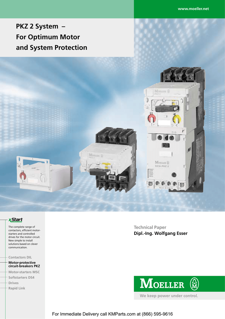 PKZ 2 System – For Optimum Motor and System Klockner Moeller Wiring Manual Automation And Power Distribution Pdf on