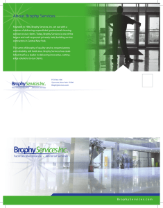Brophy Services Company Brochure