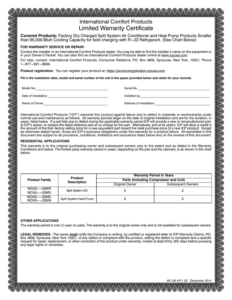 warranty certificate sample format image collections