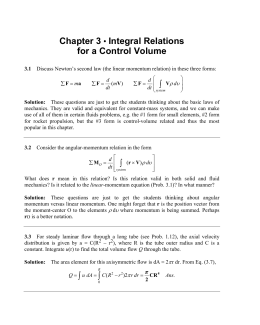 Chapter 3 • Integral Relations