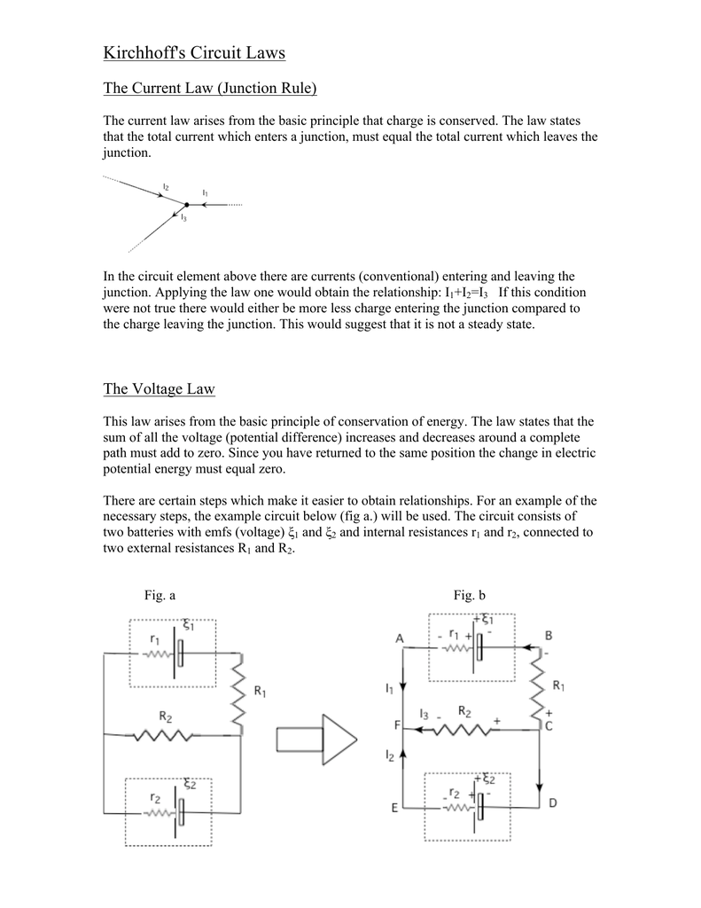 Kirchhoffs Circuit Laws Example