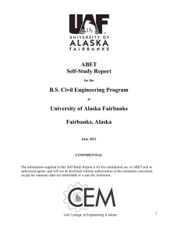 Template for Self-Study Report - 2011-12
