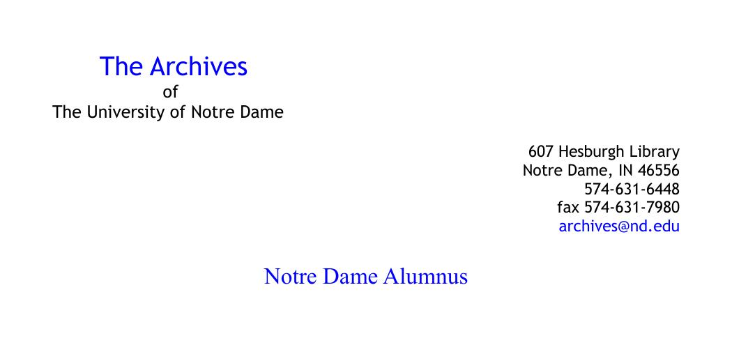 eeb803bb Notre Dame Alumnus - Archives