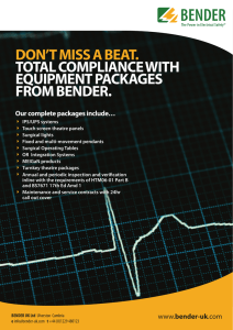 don`t miss a beat. total compliance with equipment - Bender-UK