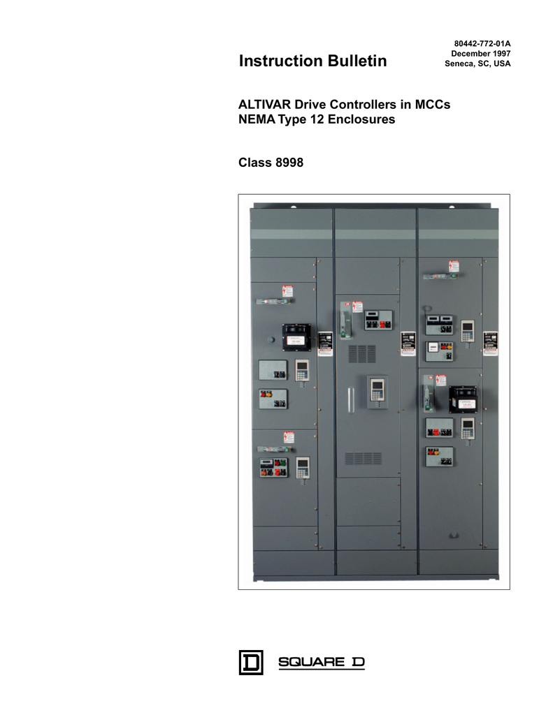 Altivar Drive Controllers In Mccs Nema Type 12 Enclosures 61 Control Wiring Diagram