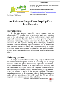 An Enhanced Single Phase Step-Up Five Level