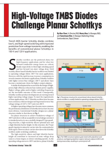 High-Voltage TMBS Diodes Challenge Planar