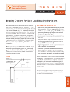 Bracing Options for Non-Load Bearing Partitions 20.100 20.100
