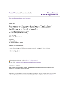 Reactions to Negative Feedback: The Role of Resilience and