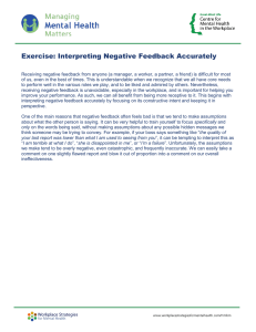 Interpreting Negative Feedback Accurately