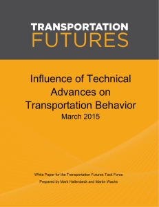 Influence of Technical Advances on Transportation Behavior