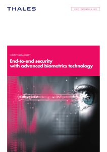 End-to-end security with advanced biometrics technology