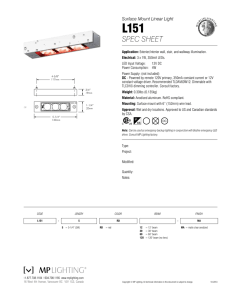 spec sheet - MP Lighting
