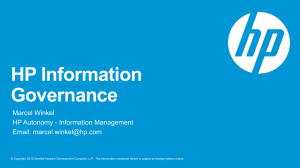 Introduction to HP Information Governance
