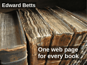 One web page for every book