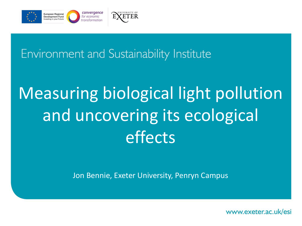 Measuring biological light pollution and uncovering its