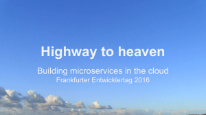 Building microservices in the cloud