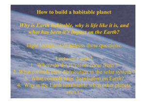 2. Why can the earth sustain life